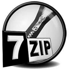 Скачать архиватор 7zip.